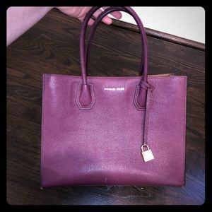Kenneth Cole berry/wine colored leather purse